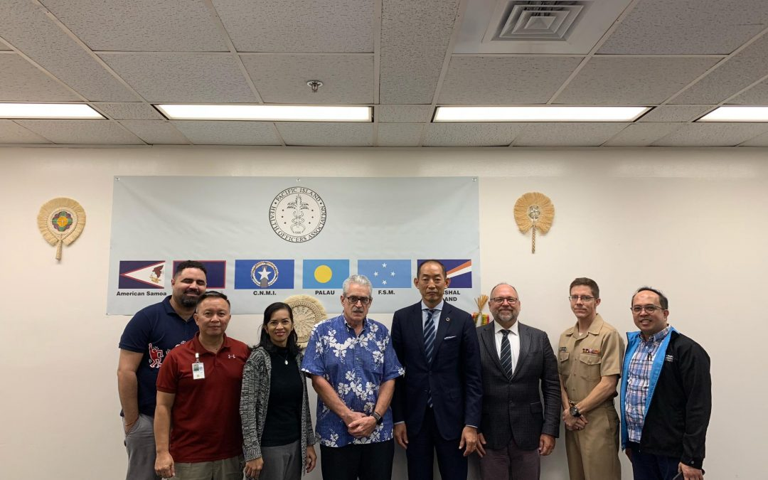 WHO WPRO Director, Dr. Takeshi Kasai Visits PIHOA Guam Office