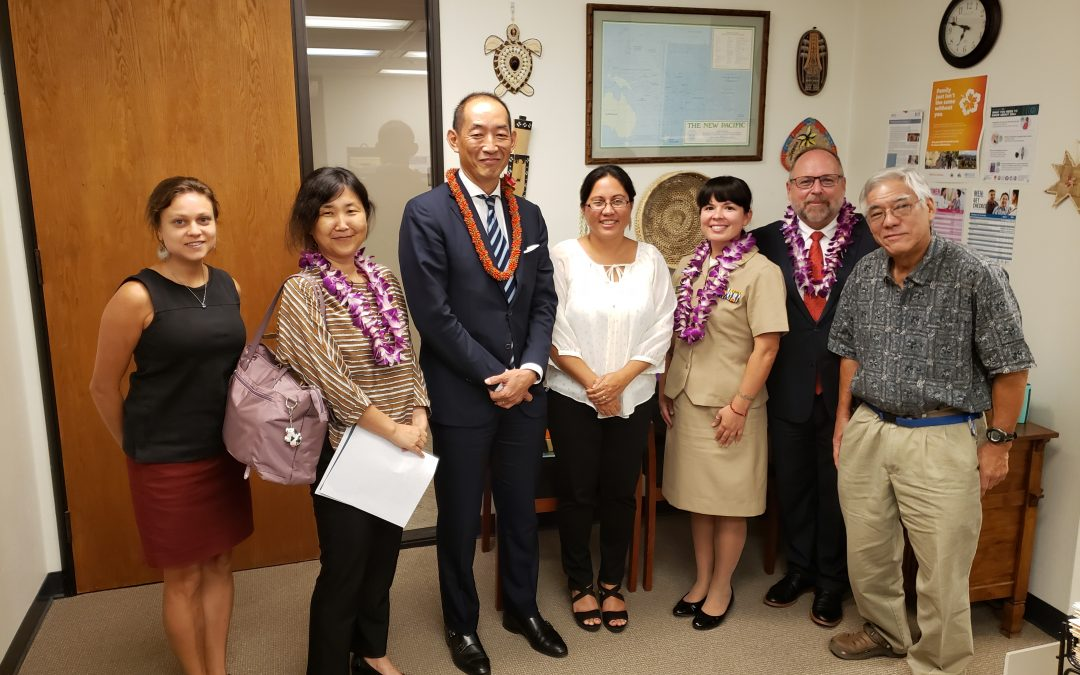 WHO WPRO Director, Dr. Takeshi Kasai Visits PIHOA Honolulu Office