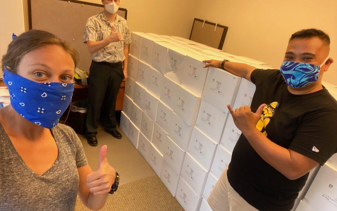 PIHOA Honolulu Office Receives Abbott ID Now COVID-19 Testing Kits