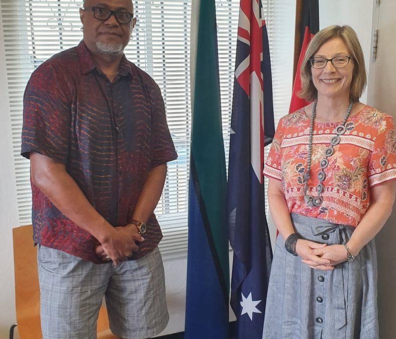 Courtesy Visit to the Australia Ambassador to FSM, Jo Cowley