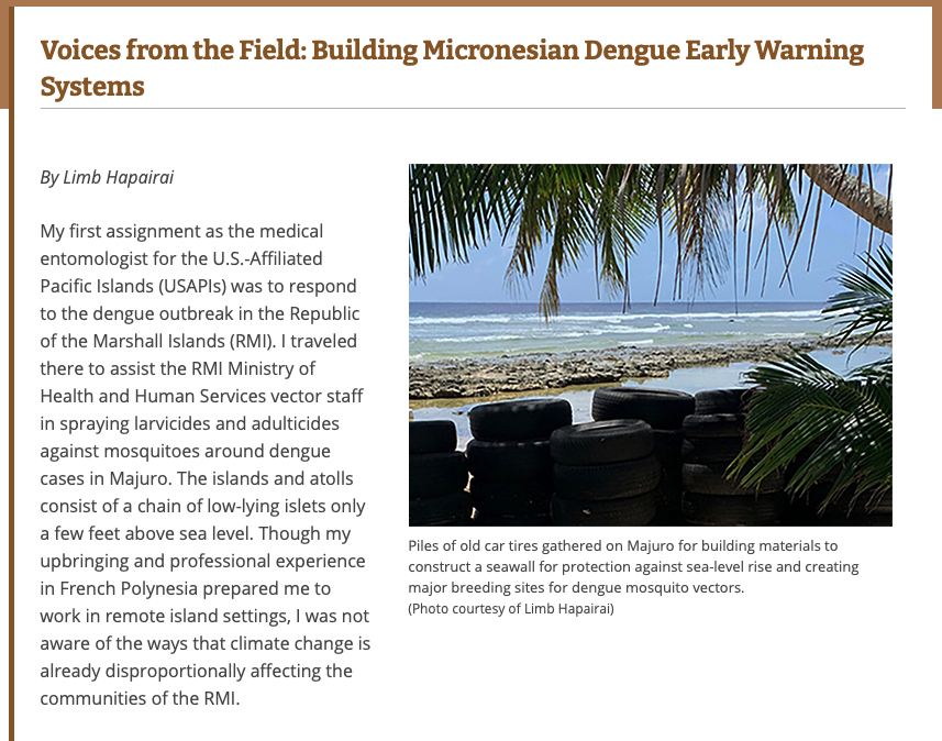 Voices from the Field: Building Micronesian Dengue Early Warning Systems